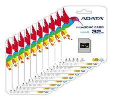 Lot of 10 ADATA 32GB 32G Class4 MicroSD Memory Card for HTC One Desire Butterfly