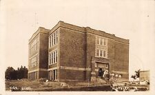 Kingsley Iowa~High School~Construction Workers~Dark Oak In~G Steele~1914 RPPC