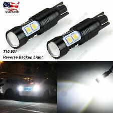 Pair 921 High Power 50W 10-SMD LED 6000K White Backup Reverse Light Bulbs