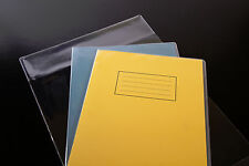 """10x clear plastic SCHOOL EXERCISE BOOK COVERS 9"""" x 7"""" standard size"""