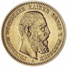 Jäger 247 Kaiserreich 10 Gold Mark 1888 Goldmünze Preußen bfr Friedrich III