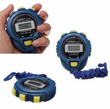 Digital Handheld LCD Chronograph Sports Stopwatch Stop Watch Blue