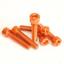 M6 x 30mm Bolts Aluminium Orange M6 x 30 mm Screws Cap Head Orange Anodised