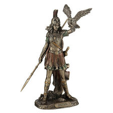 Athena greek goddess of wisdom and war, cast off the owl figure statue home deco