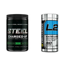 Cellucor L2 WATER LOSS Steel Supplements CHARGED AF Kiwi Strawberry COMBO