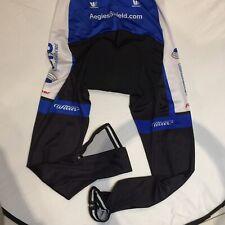 Vermarc 3XL Cycling Bib 1 Piece Long Pants Zip Padded Bottom VGC Wilier Tristina