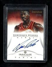 Dominique Wilkins 2012-13 Immaculate INSCRIPTIONS On-Card Auto #/25! Hawks! HOF!