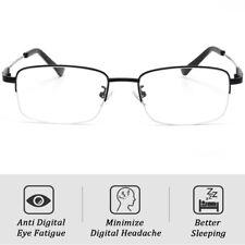 Metal Solderless Multifocal Progressive Reading Glasses Blue Light Block Eyewear