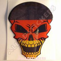 Pegatina Calavera Bandera Alemania Adhesivo Relieve Coche Moto Skull Tablet 3D