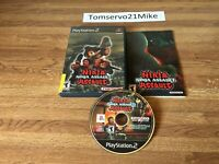 Ninja Assault (Sony PlayStation 2 2002) PS2 Complete With Manual Tested Working