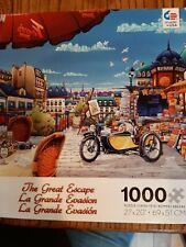 Ceaco Puzzles ~ THE GREAT ESCAPE ~ 1000 Piece Motorcycle Puzzle