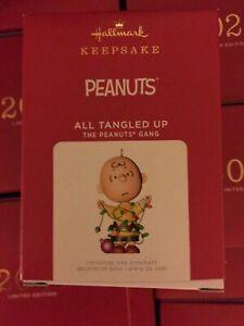 2021 New Hallmark Limited Edition Peanuts ALL TANGLED UP Ornament NR