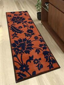 Antiskid Rectangular Brown Large Kitchen Runner with Strong Backing Of 45X180cm