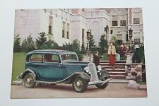 1933 FORD V-8 SEDAN DEALER ADVERTISING  POSTCARD