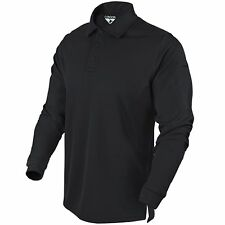 Condor Performance Long Sleeve LS Lightweight Athletic Tactical Polo Black Large