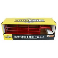 Little Buster Toys Heavy Duty Gooseneck Ranch Trailer Red 200841