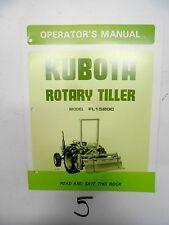Kubota FL1520C Rotary Tiller Operator's Manual