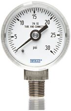 Wika 8993160 Industrial Pressure Gauge, Dry/Liquid-Fillable, Stainless Steel