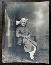 "India A MARWARI MERCHANT vintage photo 8.5"" x 11"" c.1940"