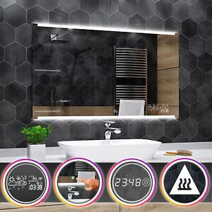 Hobart éclairé del Miroir salle de bain Station météo Interrupteur anti-buée
