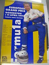Poster Formula 1 European Grand Prix Dinington 1993 (PBE)