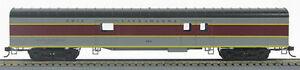 HO 72 Ft Pass. Full Baggage, RTR Erie-Lackawanna (Gray/Maroon) (1-1020J)