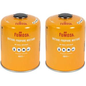 2x FUMOSA Gaskartuschen, Ventilkartuschen Set Weber Q100/1000-Serien 450g