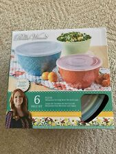 The Pioneer Woman Melamine Bowl With Lids(6 Piece Set) NEW !!!!! UNOPENED