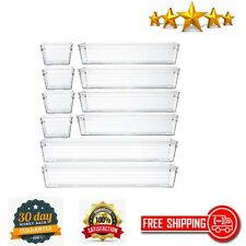 Makeup Drawer Organizer Tray Vanity Cabinet Storage Tray Jewelries Clear Plastic
