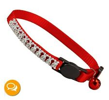 East Side Collection ZW32283 MT Rhinestone Cat Collar Red NEW