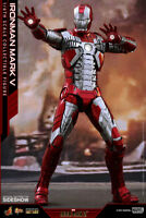 MARVEL Iron Man Mark V 5 Sixth Scale Action Figure Hot Toys DIECAST MMS400 D18