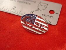 "Case XX USA 1-1/4"" American Flag CASE Knife Collectors Emblem Hat Pin"