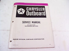Service manual for 3.5 and 4 HP Chrysler outboard motors 1982