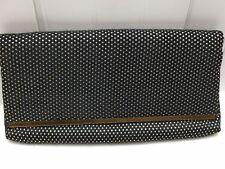 Vintage Black Metallic Polka Dot Envelope Clutch Fabric 22500