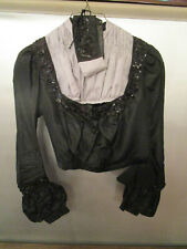 Women's Victorian Style Black Polyester Blouse Costume