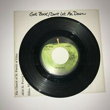 18 A Get Back / Don't Let Me Down 45 1969 Apple Vinyl Record By: The Beatles
