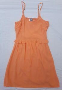 EUC Vero Moda Sz 34 (XS) Dress Coral Orange Sleeveless Casual Summer Event Beach