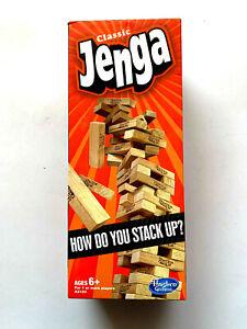Hasbro Classic Jenga - Classic Wooden Block Game - Family Fun