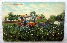 1911 POSTCARD BLACK AMERICANA COTTON PICKERS HOMEWARD BOUND #R9