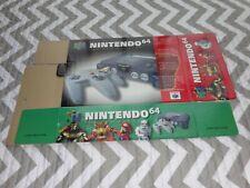 Nintendo 64 Unfolded Box Store Display Kiosk Employee ☆☆VERY RARE☆☆