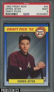 1992 Front Row Draft Picks #55 Derek Jeter RC Rookie HOF PSA 9 MINT