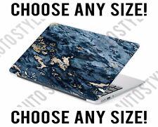 Blue Gold Flake Marble Laptop Skin Decal Sticker Tablet Skin Vinyl Cover