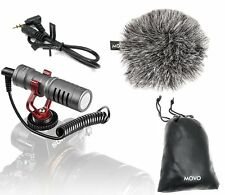 Movo VXR10GY Shotgun Condenser Video Microphone for DSLR Camera & Smartphones