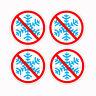 NO SNOWFLAKES Trump MAGA GOP Republican 4 anti bumper sticker decals 2-6 inches