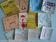 DECALS 1/43 set di 16 decals PORSCHE 24h du mans, targa florio, BRANDS HATCH ...