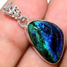 Azurite In Malachite - Morenci Mines 925 Silver Pendant Jewelry AP211565