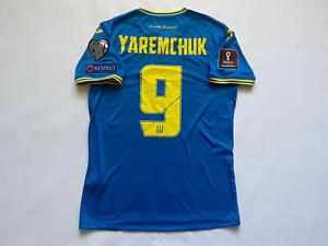 EURO UKRAINE NATIONAL TEAM MATCH WORN VS KAZAKHSTAN FOOTBALL SHIRT #9 YAREMCHUK