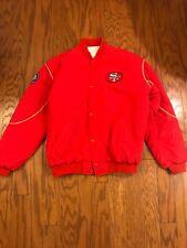 Vintage Rare Starter Red NFL San Francisco 49ers Bomber Jacket, XL