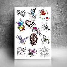 Personalised Temporary Tattoos Full A4 Sheet. Upload Any Graphics and/or Text