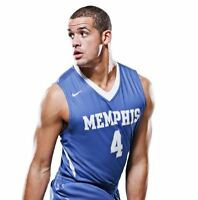 New Nike Memphis Tigers Men Large Elite Crossover Game Jersey Basketball Blue